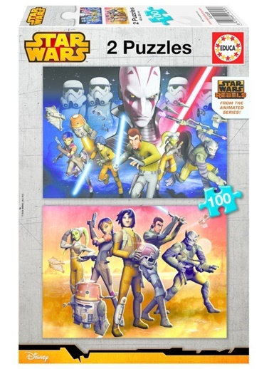Educa Çocuk Puzzle Karton 2X100 Star Wars Rebels-Star Wars